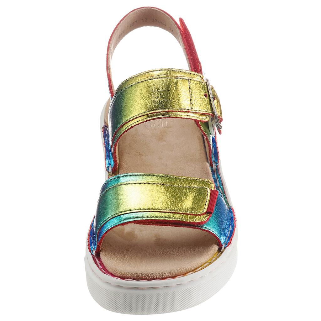 Ara Riemchensandale »COURTYARD«, im modischen Metallic-Farbverlauf