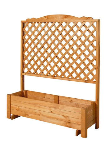 PROMADINO Holzspalier »Romantica«, mit Pflanzkasten, BxTxH: 120x38x140 cm kaufen
