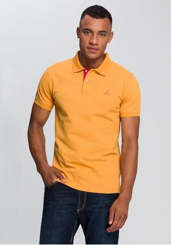 Gant Poloshirt »CONTRAST COLLAR PIQUE RUGGER« kaufen