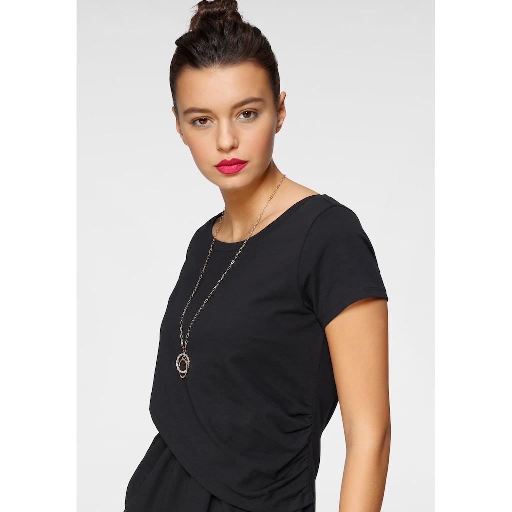 AJC Shirtkleid, in trendiger Wickeloptik mit raffinierten Raffungen