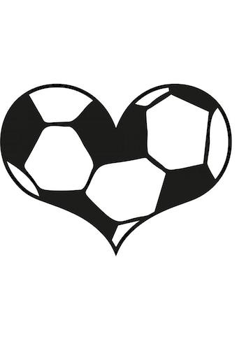 Wall-Art Wandtattoo »Fußball Wandaufkleber Herz« kaufen