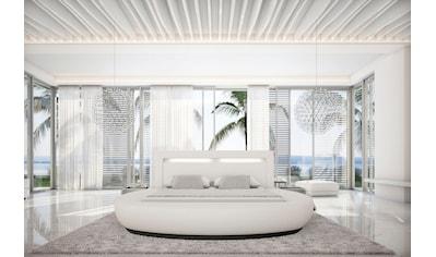 SalesFever Rundbett, mit LED-Beleuchtung im Kopfteil, Design Bett in Kunstleder,... kaufen