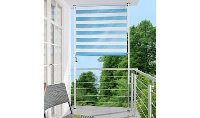 ANGERER FREIZEITMÖBEL Klemm - Senkrechtmarkise blau/weiß, BxH: 150x275 cm kaufen