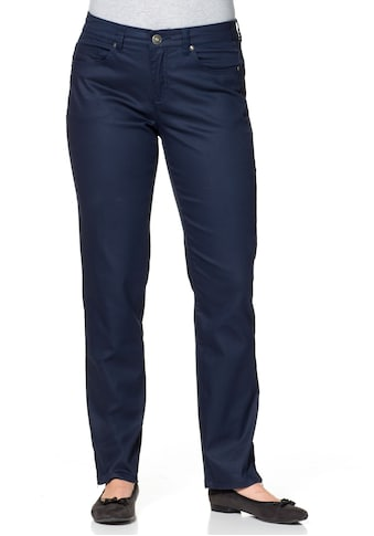 Sheego 5-Pocket-Hose, matt glänzend kaufen