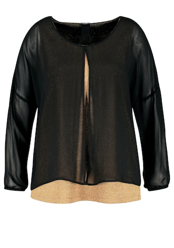 Samoon Rundhalsshirt »Festliches Blusenshirt mit Glitzer - Effekt« kaufen