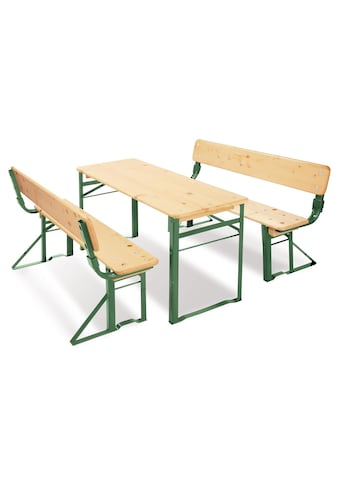 Pinolino® Kindersitzgruppe »Kinderfestzeltgarnitur mit Lehne, Sepp«, (3 tlg.) kaufen