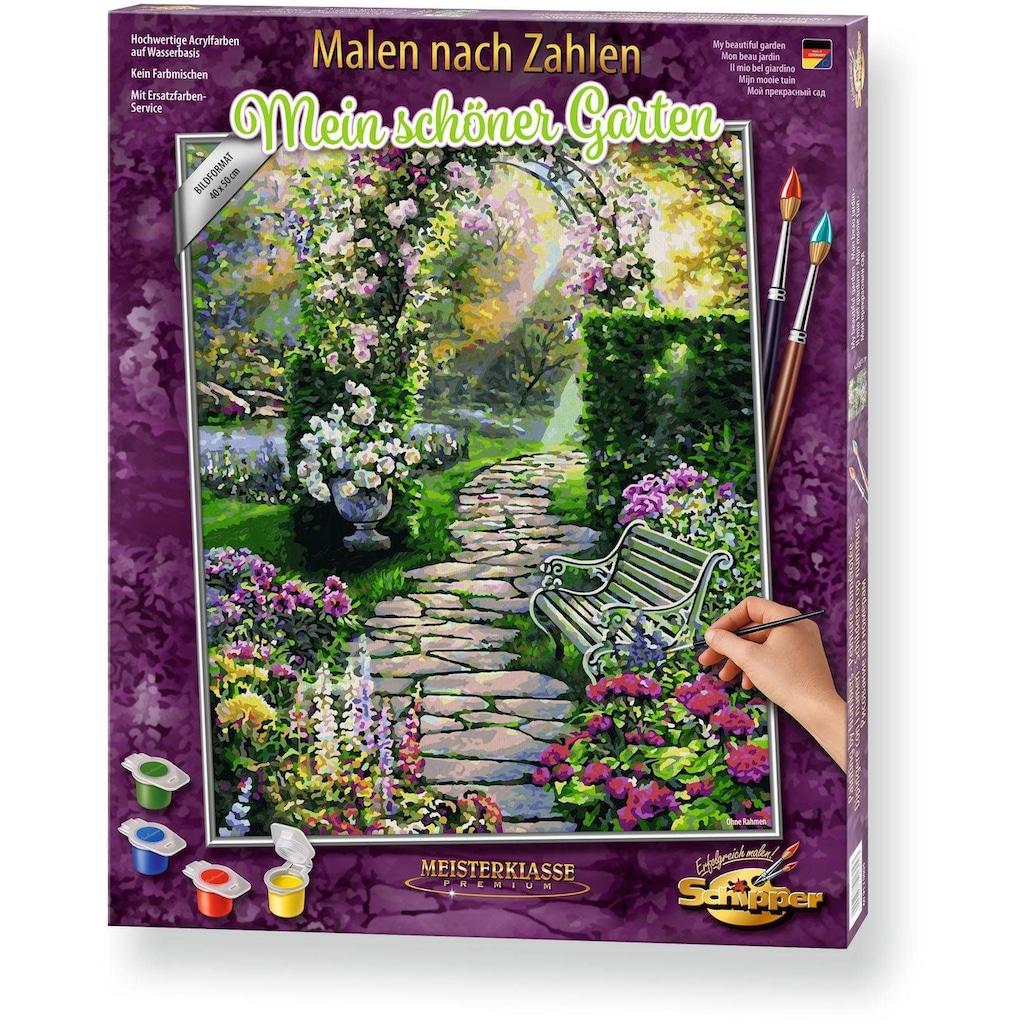 Schipper Malen nach Zahlen »Meisterklasse Premium - Mein schöner Garten«, Made in Germany