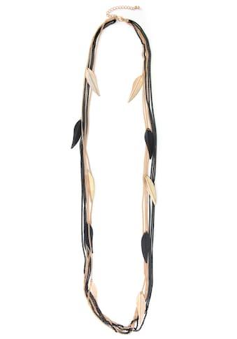 J.Jayz Lange Kette »Blätter, Bicolor-Gliederkette, stylisch« kaufen