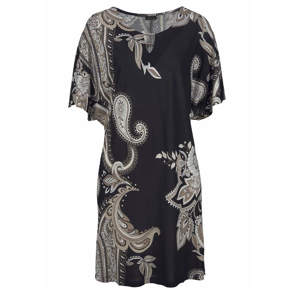 LASCANA Jerseykleid, mit Zierdetail am Ausschnitt