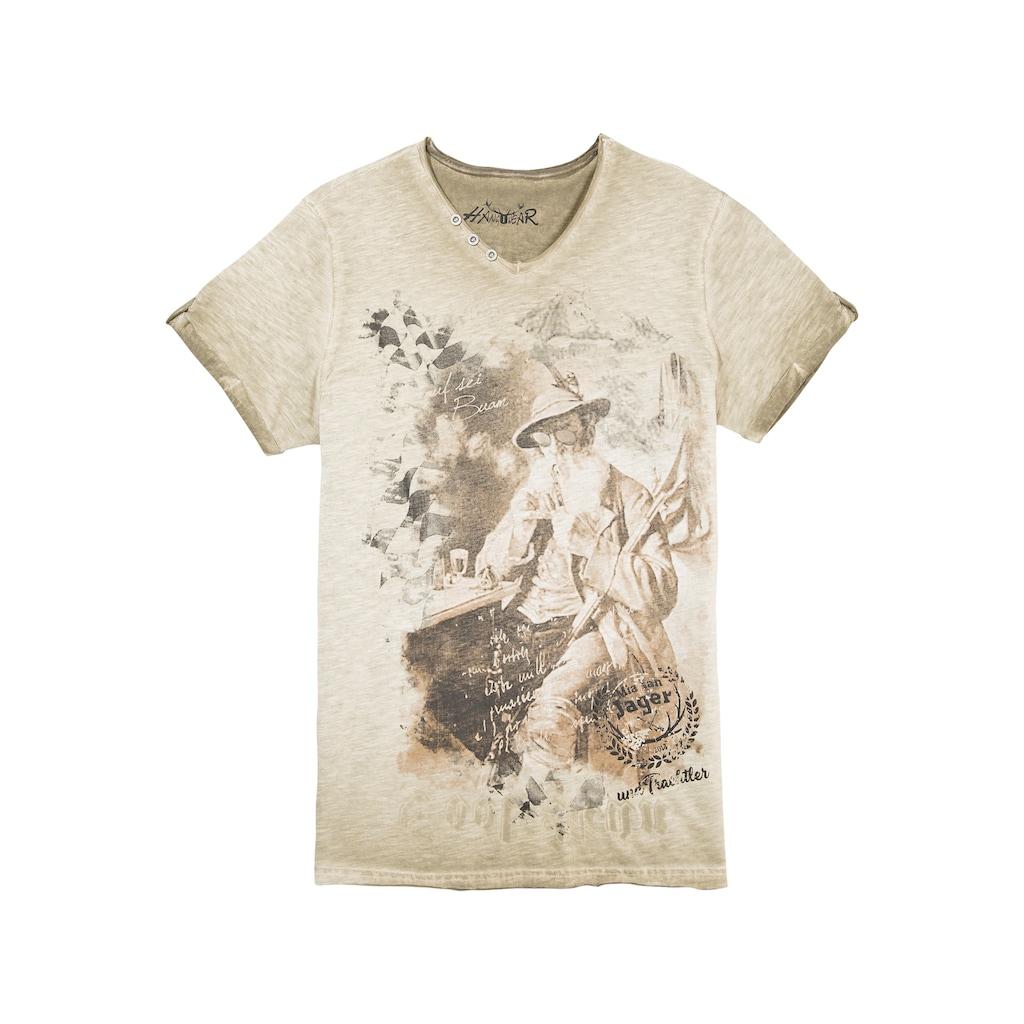 Hangowear Trachtenshirt, mit ausdrucksvollem Print