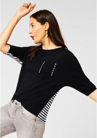 STREET ONE 3/4-Arm-Shirt, aus elastischem Materialmix kaufen