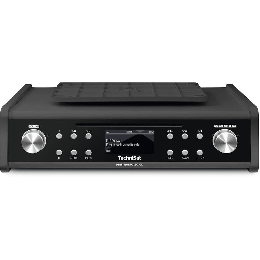 TechniSat Unterbau-Küchenradio, Radio mit CD-Player, Weckfunktion