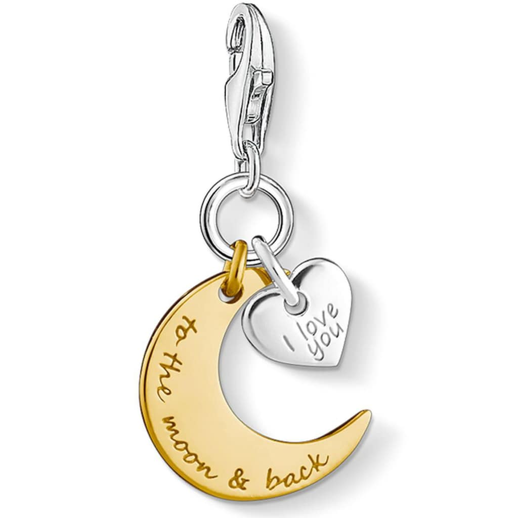 THOMAS SABO Charm-Einhänger »I LOVE YOU TO THE MOON & BACK, 1443-413-39«