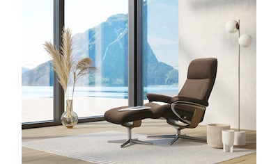 Stressless® Relaxsessel »View«, mit Hocker, mit Cross Base, Größe S, M & L, Gestell Eiche kaufen