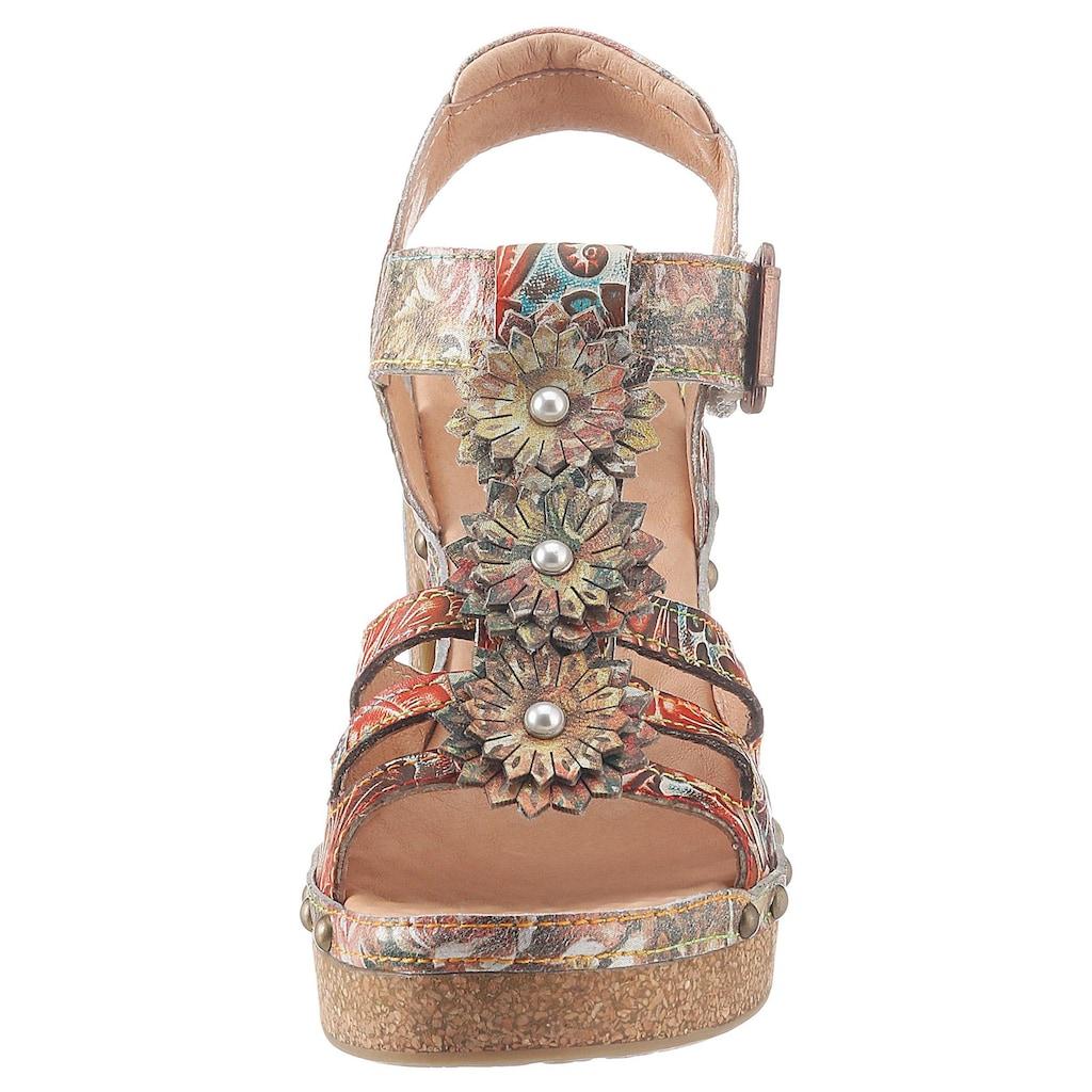 LAURA VITA High-Heel-Sandalette »Hecalo«, mit modischen Zierblüten