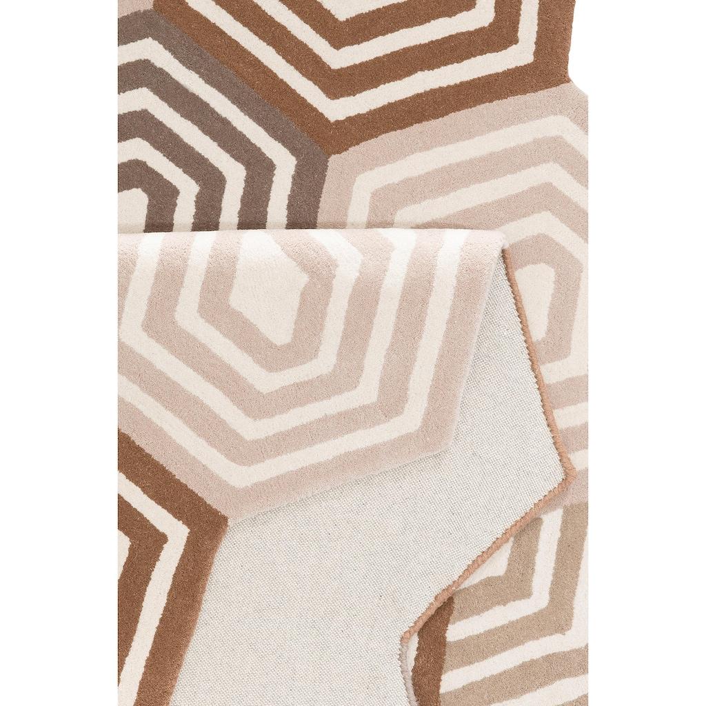 Home affaire Collection Wollteppich »Hilton«, rechteckig, 11 mm Höhe, reine Wolle, Wollteppich, Wohnzimmer