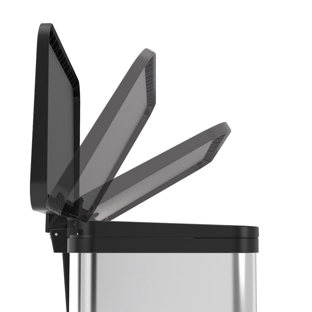 Hailo Mülleimer »Öko Duo Plus M«, silberfarben, Fassungsvermögen ca. 2x 9 Liter