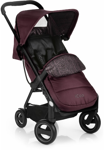 iCoo Kinder-Buggy »Acrobat Fishbone Bordeaux«, mit leichtem und stylischem Aluminiumgestell kaufen