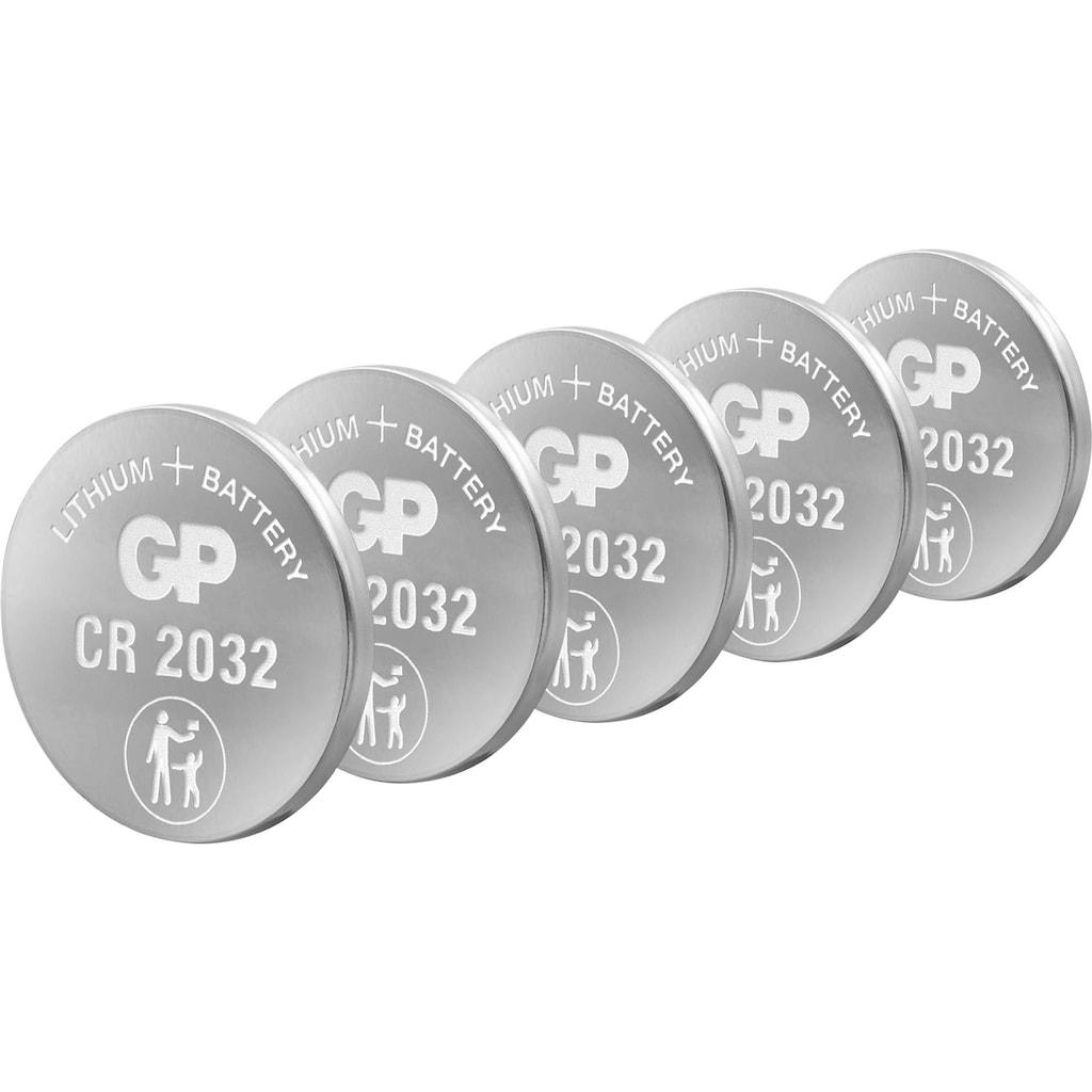 GP Batteries Knopfzelle »CR2032 Lithium«, CR2032, 3 V, (Set), 5 St