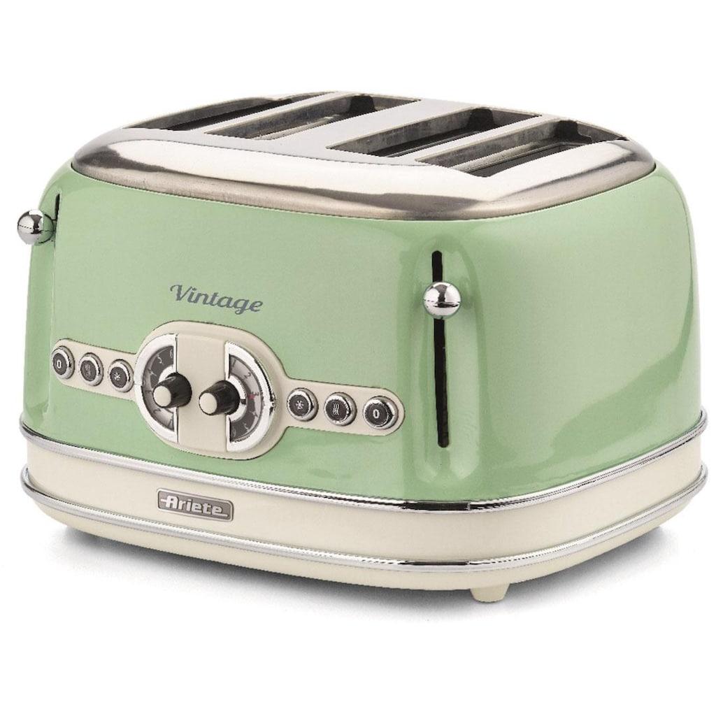 Ariete Toaster »Vintage«, 4 kurze Schlitze, für 4 Scheiben, 1630 W, grün