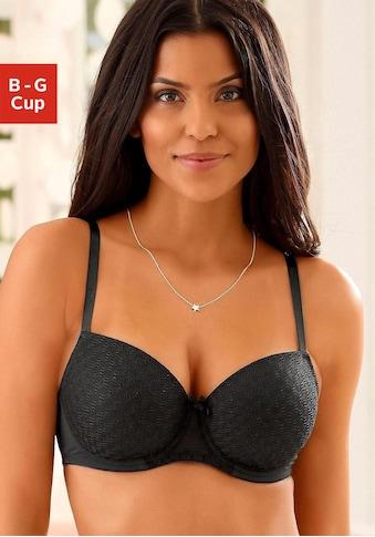 LASCANA Schalen-BH, mit Bügel und graphischer Spitze kaufen