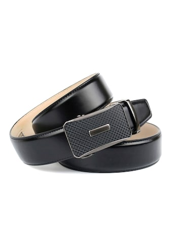 Anthoni Crown Ledergürtel, Glatter Gürtel mit Schließe im Flecht-Design kaufen