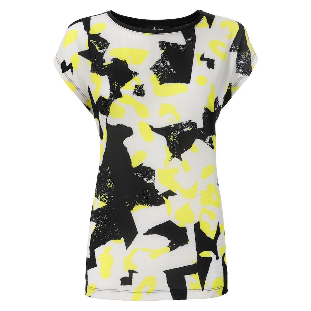 Aniston SELECTED Blusenshirt, mit Neonfarbe im Druck