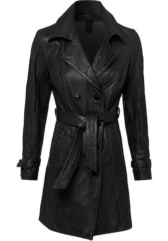Gipsy Ledermantel »Taresa«, (2 tlg., mit Bindegürtel), femininer Leder-Trenchcoat mit... kaufen