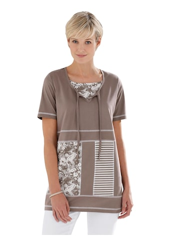 Classic Basics Shirttunika in Patchwork - Optik kaufen