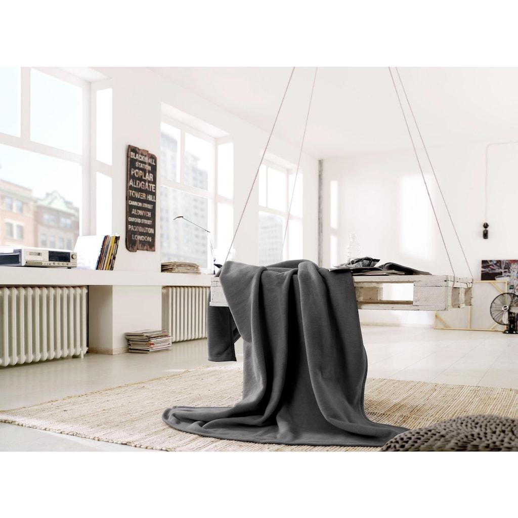 BIEDERLACK Wohndecke »Cotton Home«, im Uni Design