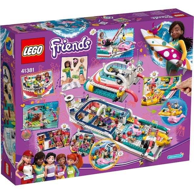"""LEGO® Konstruktionsspielsteine """"Boot für Rettungsaktionen (41381), LEGO® Friends"""", Kunststoff, (908-tlg.)"""
