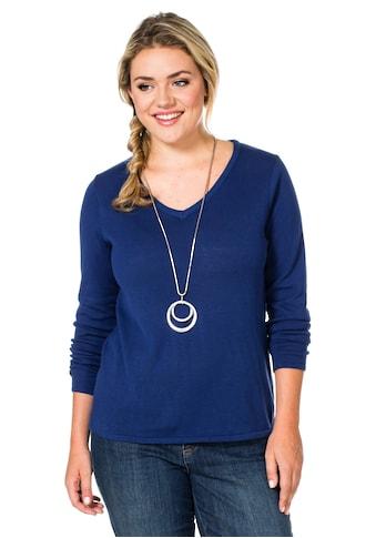 Sheego V-Ausschnitt-Pullover kaufen
