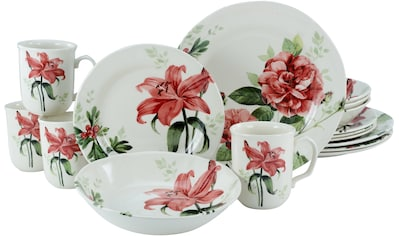 CreaTable Kombiservice »Rosemary«, (Set, 16 tlg.), Rosen/Blumendekor kaufen