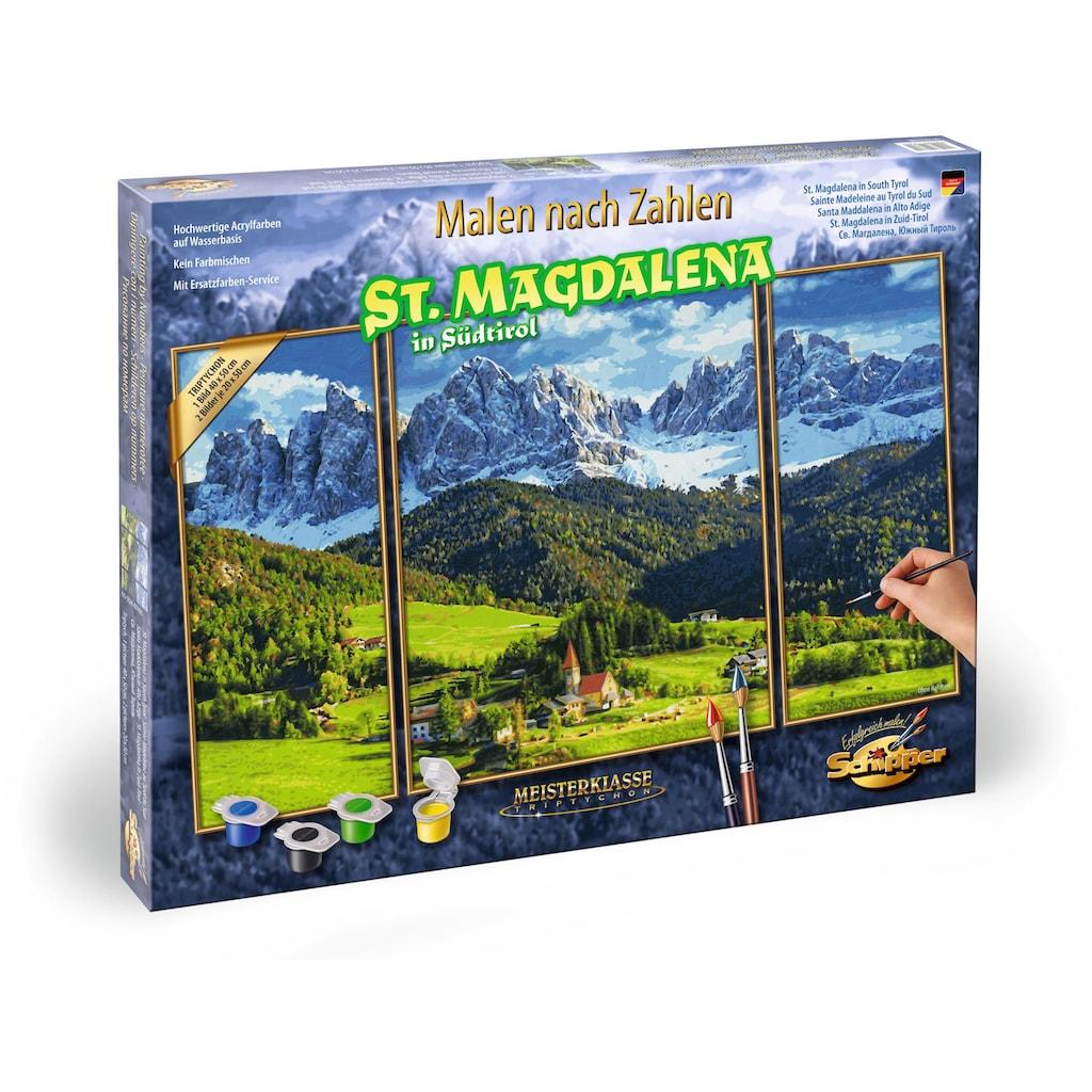 Schipper Malen nach Zahlen »Meisterklasse Triptychon, St. Magdalena in Südtirol«, Made in Germany