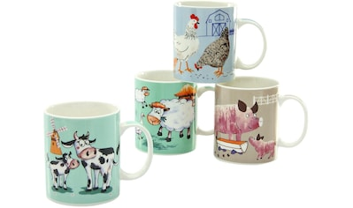 CreaTable Becher »Farm Animals«, (Set, 4 tlg.), ideal als Kinderbecher, 4-teilig kaufen
