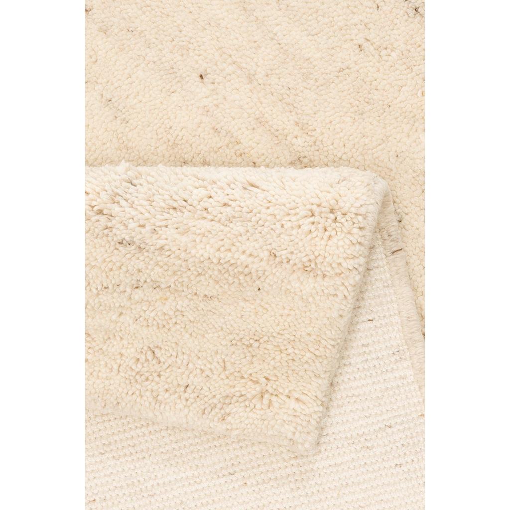 DELAVITA Wollteppich »Mohan«, rechteckig, 25 mm Höhe, reine Wolle, Woll-Shaggy, handgeknüpft, Wohnzimmer
