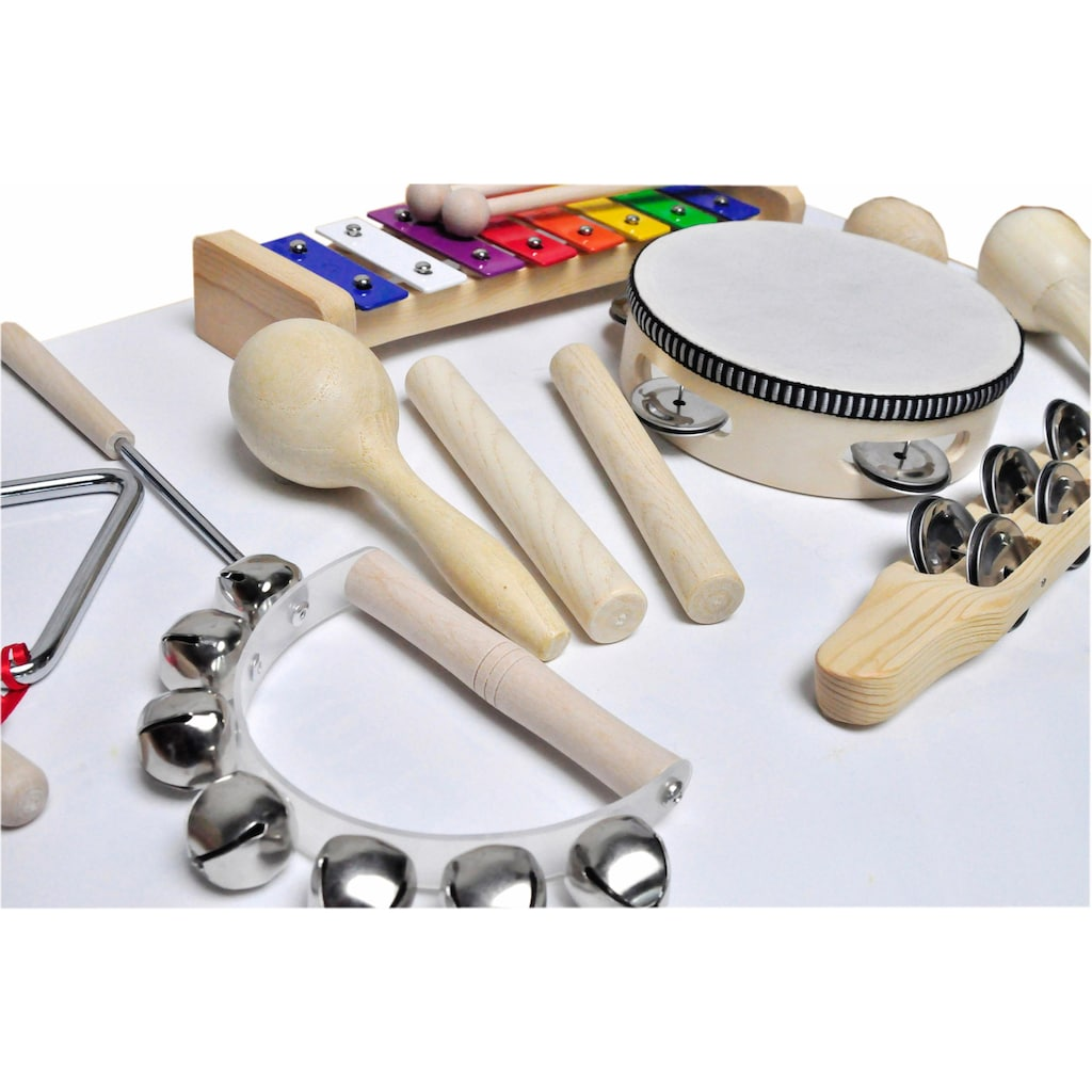 Clifton Percussion-Set »9 teiliges Kinder Percussion Set mit CD«