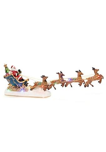 KONSTSMIDE,LED Dekofigur»Weihnachtsmann im Schlitten mit Rentieren«, kaufen