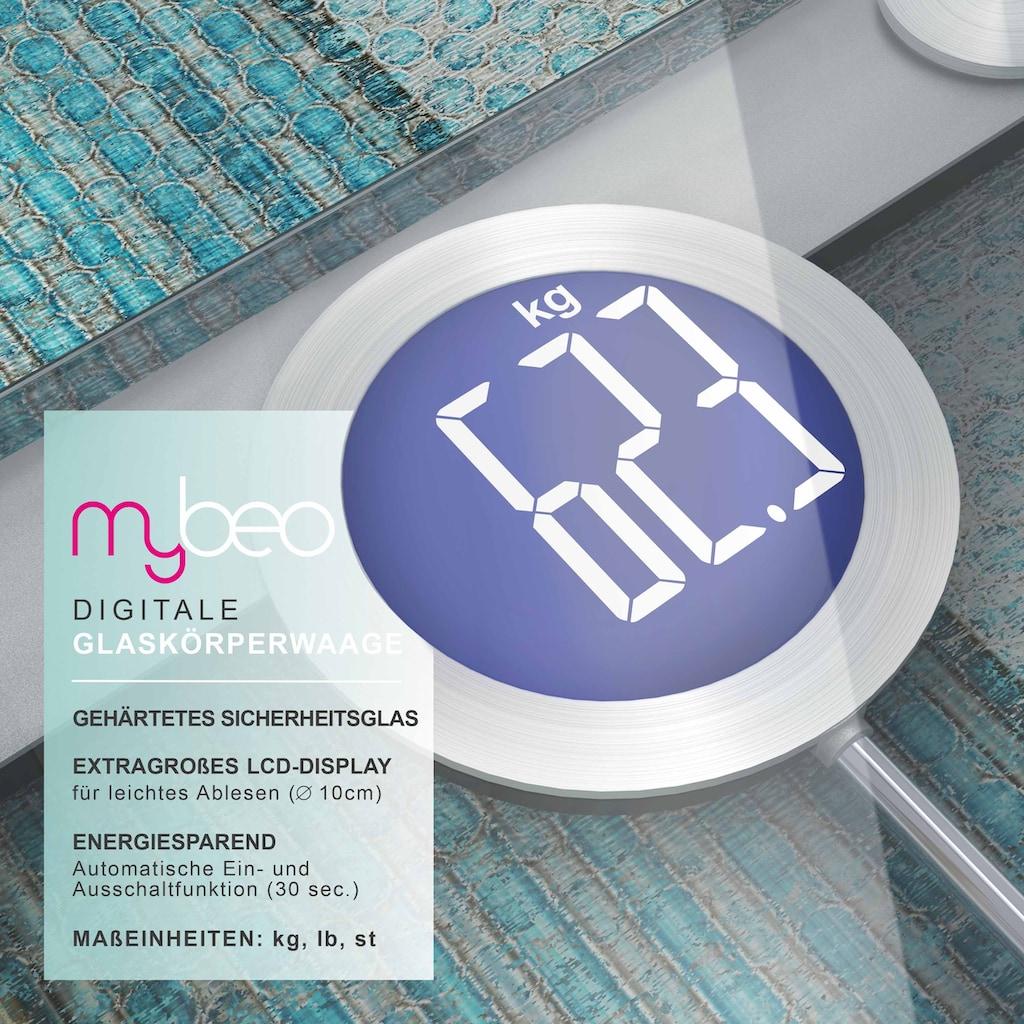 MyBeo Digitale Körperwaage im Glas Design