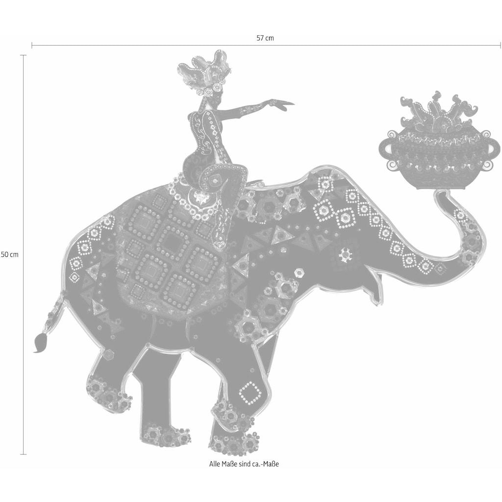 Wall-Art Wandtattoo »Metallic Elephant Ride«