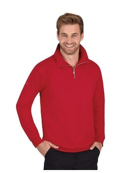 Trigema   Sweatshirt mit TRIGEMA Logo kirsch   jetzt online
