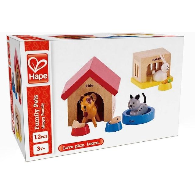 """Hape Puppenhausmöbel """"Haustiere aus Holz für Puppenhaus"""", (Set, 12-tlg.)"""