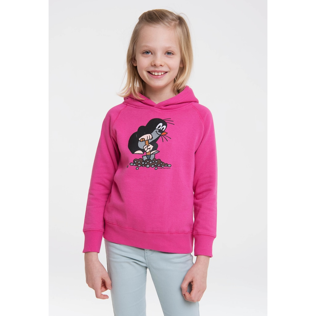 LOGOSHIRT Kapuzensweatshirt »Der kleine Maulwurf«, mit tollem Print