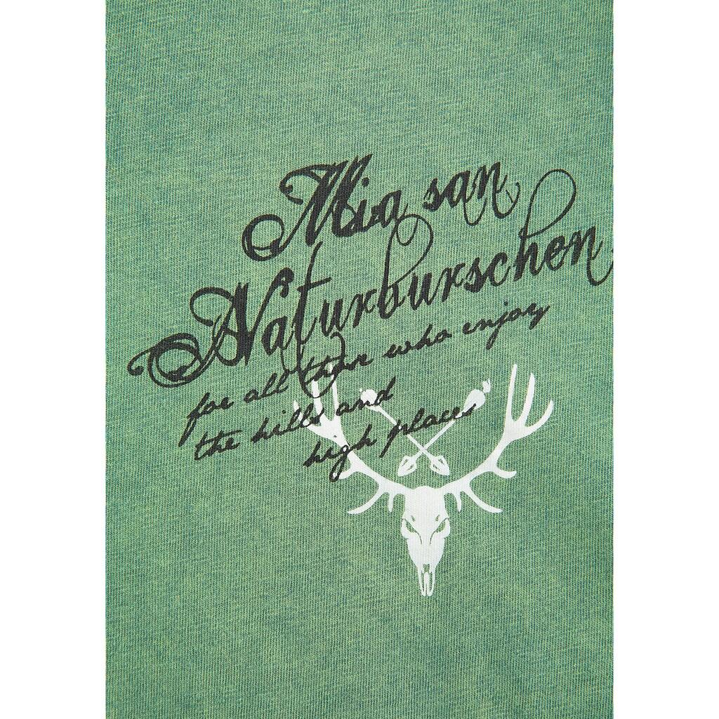 Hangowear Trachtenshirt, mit dekorativem Printelement