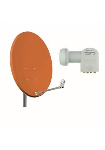Opticum Red X80 Stahl mit Quad LNB Sat Anlage Sat - Spiegel kaufen