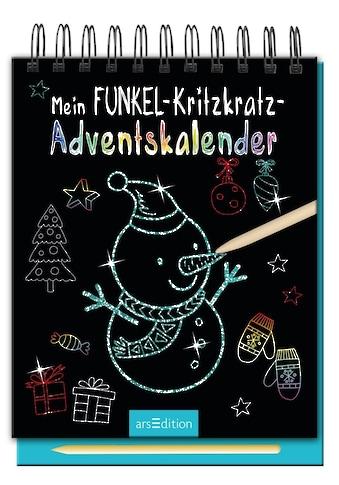 Buch Mein Funkel - Kritzkratz - Adventskalender  -  Ein zauberhafter Kritzkratz - Block für Kinder / DIVERSE kaufen