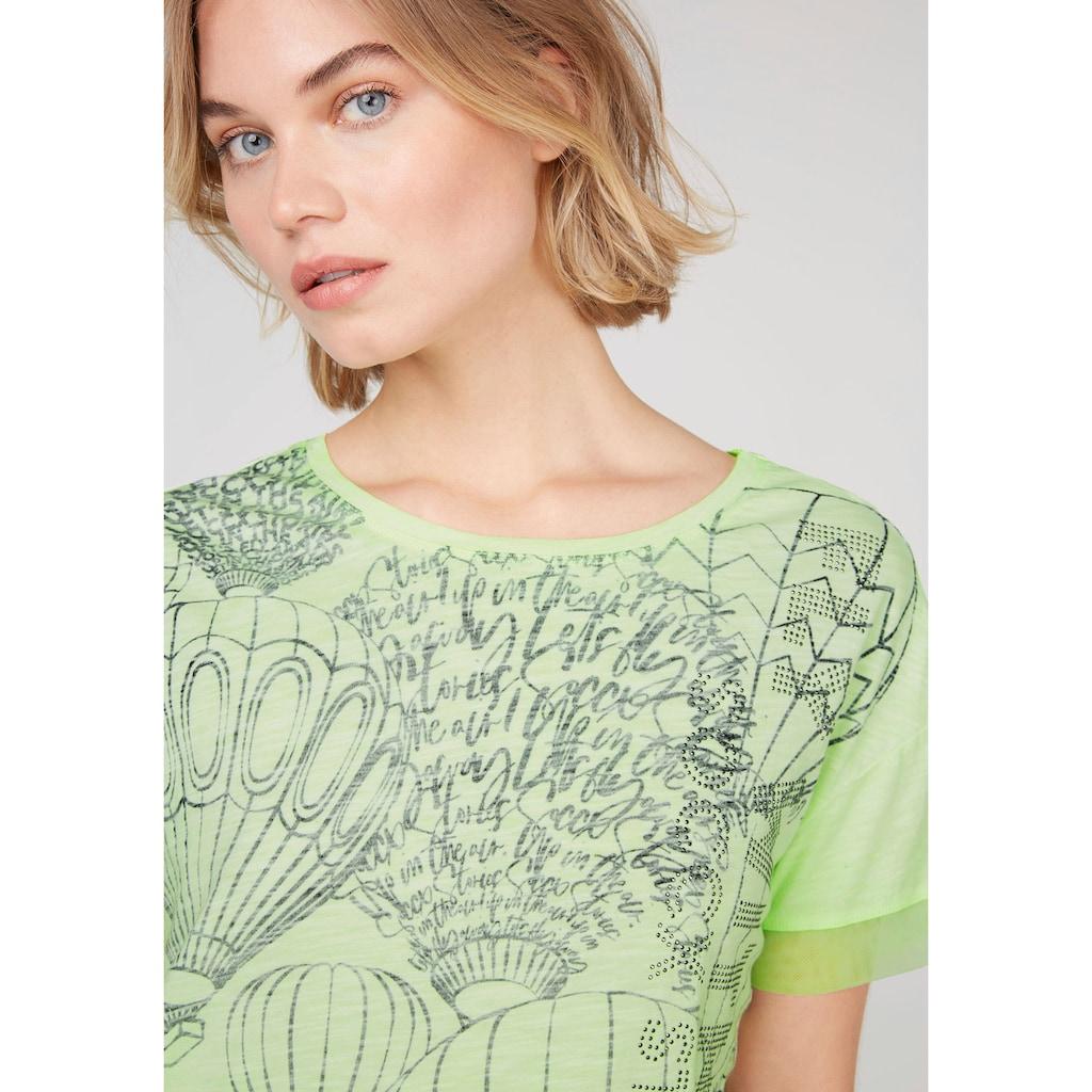 SOCCX T-Shirt, mit Mesh-Kante am Ärmel und Gummizug im Saum