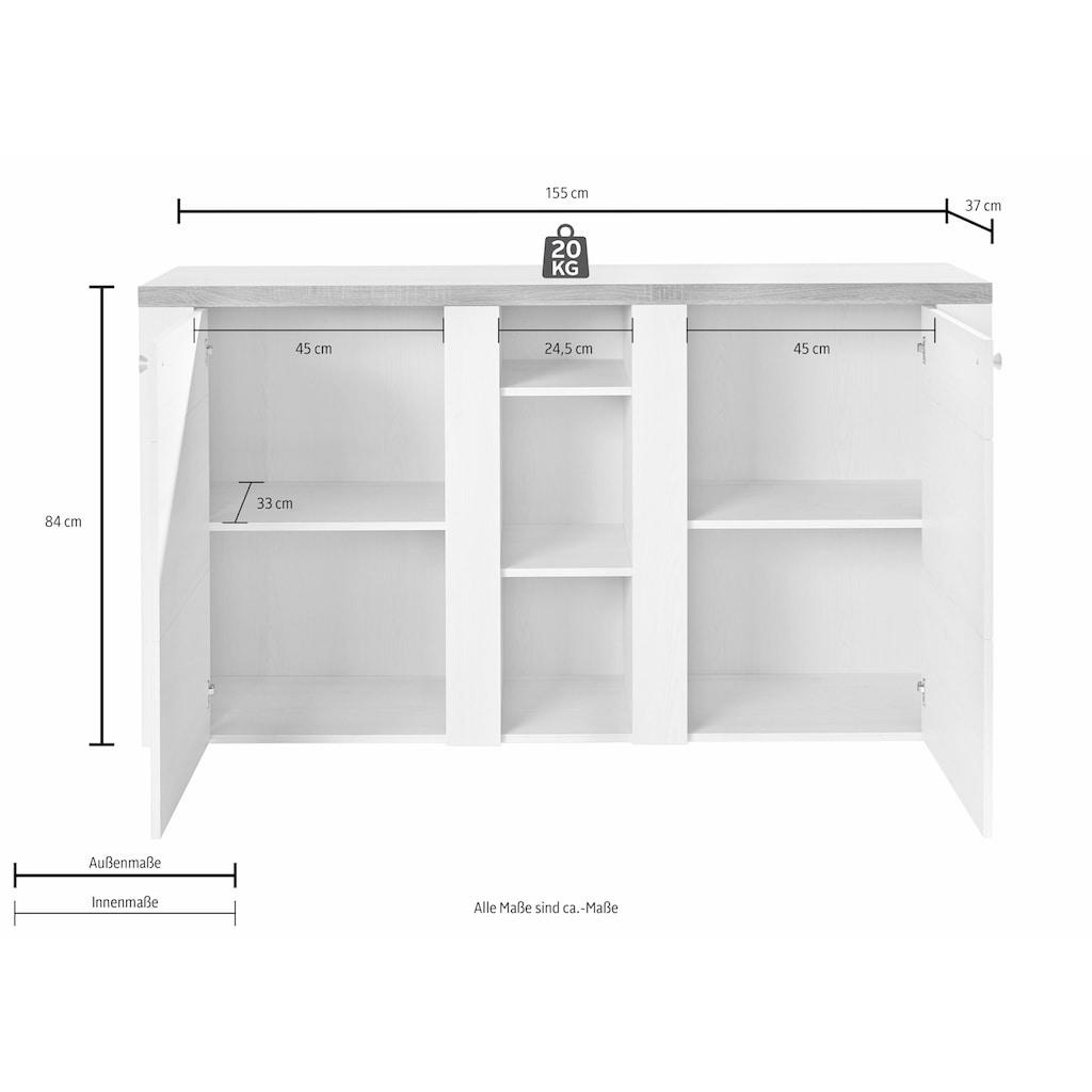Helvetia Sideboard »Larona«, Breite 155 cm