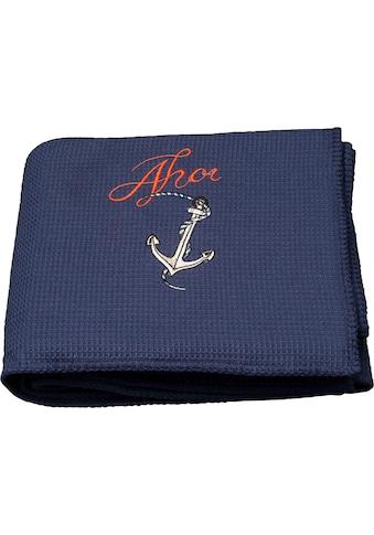 Kneer Tagesdecke »La Diva Piqué Ahoi«, aus Waffelpiqué, auch als Strandtuch einsetzbar kaufen