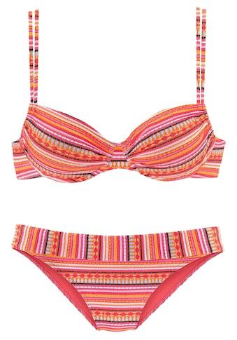 LASCANA Bügel-Bikini, mit glitzernden Streifen kaufen